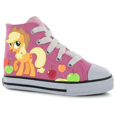 Hand painted Children My Little Pony shoes, Applejack and Pinkie Pie  Any size, color, character and design