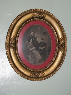 Antique Abraham Lincoln & family