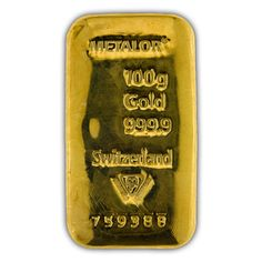 Gold 100 Gram Metalor bar
