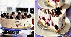 We haven't wanted any other cakes since we tried this curd cherry cake! Cherry Cake, Food Cakes, Cookie Desserts, Cake Cookies, Tiramisu, Panna Cotta, Cake Recipes, Cheesecake, Food And Drink