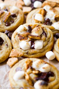 Everything you love about soft and chewy chocolate chip cookies paired with the greatness of a campfire s'more. So very sorry for doing this to you on a Monday. Except. I'm not really sorry at all. Because toasted s'mores combined with soft and chewy chocolate chip cookies are acceptable any day of the week. Ok? …