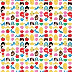Springs Emojis 59899 Princess FREE US SHIP CottonBTY #SpringsCreative