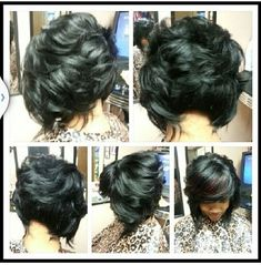 Excellent Image Result For Feathered Bobs For Black Women Bobs Pinterest Short Hairstyles Gunalazisus
