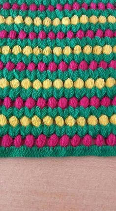 "You can learn how to knit ""tomurcuk lif"" pattern. Crochet Cluster Stitch, Puff Stitch Crochet, Free Crochet Bag, Crochet Baby, Chevron Crochet Blanket Pattern, Crochet Stitches Patterns, Stitch Patterns, Crochet Crafts, Crochet Projects"