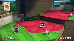 Paper Mario: Color Splash - boss fight intro and gameplay