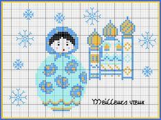 Free Matryoshka Cross Stitch Chart or hama perler bead pattern