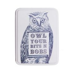 Owl Bits and Bobs Tin