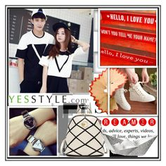 """""""YESSTYLE """"Back to school"""""""" by djulovic-mirela ❤ liked on Polyvore featuring InShop Watches, lovebirds, Pussycat, Sidewalk, LineShow, Victoria's Secret, BackToSchool, bts and BackToSchoolSale"""