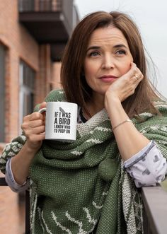 """Love this """"If I Was a Bird I Know Who I'd Poop On"""" funny mug?  We do too :)  Its the perfect cute gift idea for moms, best friends, co-workers, women or even yourself...    #funnymug #giftideas #funnycoffeemug #giftideasformom  #KatieMcGrathDesigns Funny Coffee Cups, Funny Mugs, Donuts Funny, Tea Mugs, Coffee Mugs, Coffee Lovers, Drink Coffee, Coffee Shop, Gifts In A Mug"""