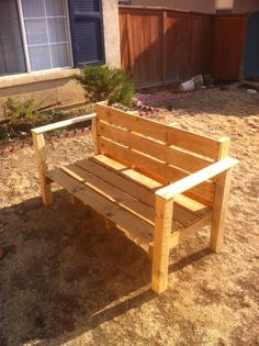 Out door bench in progress Door Bench, Outdoor Furniture, Outdoor Decor, Benches, Outdoors, Create, Table, Projects, Ideas