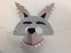 My own cool wolf mask- simple to make! Big Bad Wolf, Red Riding Hood, 3 Little Pigs