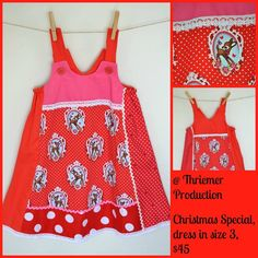 Handmade by @ThriemerProduction This is a lovely girls dress out of high quality cotton,