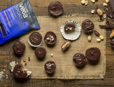 Want a protein-rich snack or dessert? Have a peanut butter cup! Yes, you read that right: a peanut butter cup, made with Vega Sport Performance Protein.