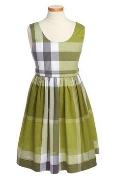 Burberry 'Anny' Sleeveless Dress (girls, citrus green)