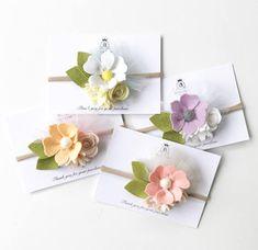 Flower Tulle Headbands / Felt Flower Headband / Felt Flower