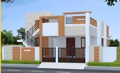 Independent house... House Front Wall Design, House Outer Design, Single Floor House Design, Village House Design, Small House Design, Modern House Design, Independent House, 900 Sq Ft House, Morden House