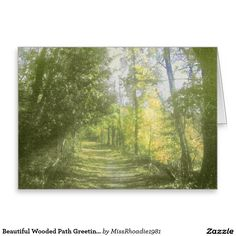 Beautiful Wooded Path Greeting Card