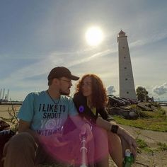 Мы и кронштадтский маяк/We and the lighthouse of Kronshtadt #lighthouse #kronshtadt #pier #sun #yi #xiaomi #actioncam #spb #spbgram #we #love #family #boft by egor_baklykov
