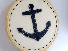Anchor embroidery- on a shirt, yes please!
