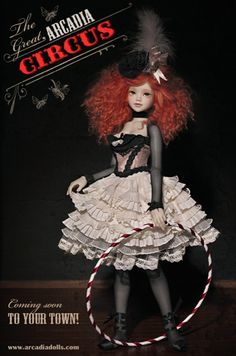 Similar to Poppet from The Night Circus, and a great reference for what sort of wig to hunt for to add color to an otherwise monochrome costume.