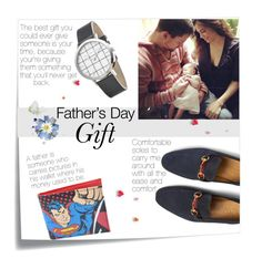"""""""Father's Day Gift"""" by linkfari ❤ liked on Polyvore featuring Post-It, Elwood, Gucci, men's fashion, menswear and fathersdaygiftguide"""