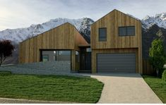 Need a Quality Builder for a New Home or Renovation in Queenstown? To build the home you've been dreaming of contact Ferguson Builders. Larch Cladding, This Is Us, Shed, New Homes, Outdoor Structures, Architecture, Drawings, Building, Arquitetura