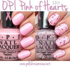 "OPI Pink of Hearts BCA Breast Cancer Awareness 2014 nail polish set: ""Mod About You"" and ""The Power of Pink"""