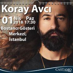 Castamo Ajanda öneriyor! Koray Avcı Konseri Yer: Bostancı Gösteri Merkezi Tarih: 01 Nisan 2018 Pazar Saat:17:30