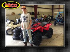 Thank you Beal family from Richton MS for getting a 2017 Can-Am Outlander 570 #canam