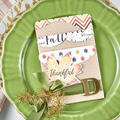 Double Pocket Die as a place setting from Fun Stampers Journey
