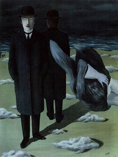 René Magritte (Belgian, 1898-1967). The Meaning of Night, 1927. Oil on canvas. 139 x 105 cm (54 11/16 x 41 5/16 in.). The Menil Collection, Houston. © Estate of René Magritte / Artists Rights Society (ARS), New York / ADAGP, Paris.