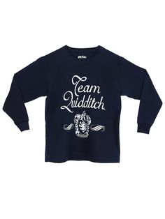 Harry Potter Boys' Harry Potter Quidditch Long Sleeved Top Size 6. Boys Harry Potter T-shirt. He'll be able to support the Gryffindor Quidditch team with this long sleeved Harry Potter tee, perfect for chasing after a Snitch or evade Bludgers. With an eye-catching design, it features the words 'Team Quidditch' and the Gryffindor coat of arms. Made of soft quality cotton, is perfect to wear with jeans on any occasion. Officially licensed Harry Potter merchandise, exclusively designed for...