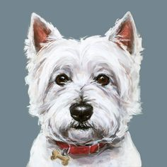 Westie dog art print - Ltd. Ed Collectable No. 5