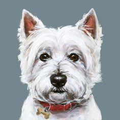 Westie dog art print - Ltd. Ed Collectable No. 5