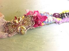 Upcycled Boho Princess Headband with Vintage Bling