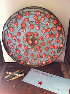 Vintage bingo number magnets...pretty cool.