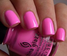 New Nails Colors Summer Pink China Glaze Ideas Cute Pink Nails, Fun Nails, Pastel Nails, French Nails, Opi, Essie, Nail Art Designs, Nail Design, China Glaze Nail Polish