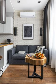 Small Apartment With Unique Yet Smooth Look Small Apartment interior design idea 5 Minimalist Home Interior, Interior Design Kitchen, Modern Interior Design, Home Design, Condo Design, Minimalist Furniture, Small Loft Apartments, Small Apartment Design, Apartment Ideas
