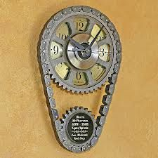 Man Cave timing belt clock