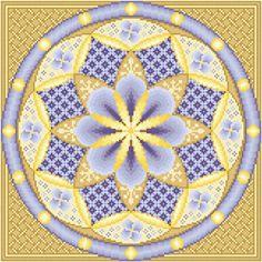 Blueberry Cheese Danish Cafe au Lait cross stitch pattern.