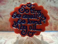 So Tiny, So Small, So Loved By All <3 Adorable Pet ID Tag by DakotaAshleyDesigns http://etsy.me/13PiCb3 via @Etsy, $8.00