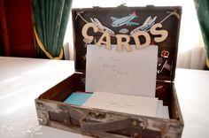 Luggage Card Box!  super cute!!!
