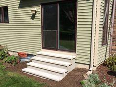 Stucco Precast Concrete Steps