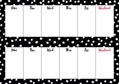 Weekly overview for your desk! FREE PRINTABLE