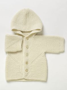 Hand Knit Cardigan with Hood | Bacabuche