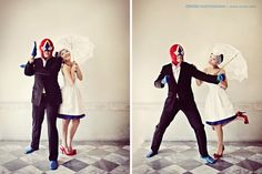 It's cute to wear a mask on your prewed photo... well... what? I mean we have paid a lot of money for photos but you wore a mask :( but it's cute tho