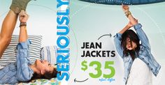 SHOP $35 Jean Jackets - limited time - select styles