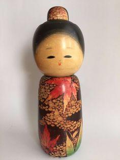 Super Vintage Kokeshi 27.1cm in 1977 Sato-Koson Female Japan Antique BIG9