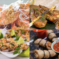 Indonesian Cuisine, Diy Food, No Cook Meals, Food Dishes, Love Food, Food And Drink, Cooking Recipes, Prawn, Healthy