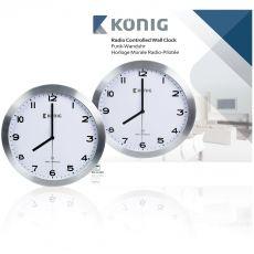 Konig AV König, Radiogestuurde Wandklok, 30cm|binnenleven|herfst - Vivolanda